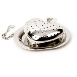 Boulé à thé forme coeur inox