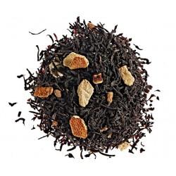 Thé aux épices, thé noir aromatisé à la cannelle agrémenté d'écorces d'orange - Comptoir Français du Thé.