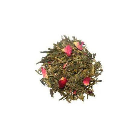 th vert fleurs de cerisier japonais th vert aromatis la rose et p tales de rose. Black Bedroom Furniture Sets. Home Design Ideas