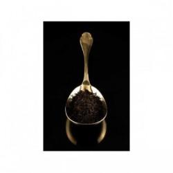Paradis sur Terre, thé noir aromatisé bergamote,rose, vanille et pointes blanches - Compagnie Coloniale 1848.