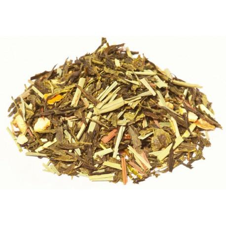 Citron Bio, thé vert de Chine aromatisé Citron avec Ecorces