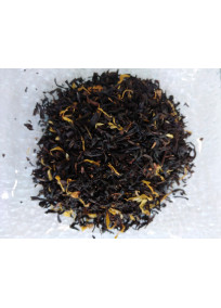Thé noir de Chine aromatisé tarte au citron, citron et caramel toffee.