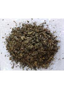 Thé vert Jardin d'Areski aromatisé à la menthe douce et menthe poivrée.