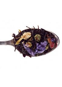 thé vert et noir rose, jasmin et violette