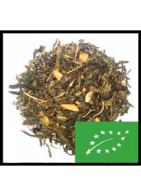 thé vert sencha de chine aromatisé peche kiwi et bergamote.