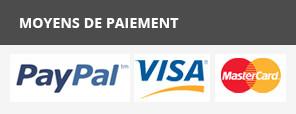 Moyens de paiement CB et Paypal